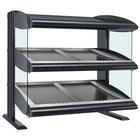 Hatco HZMS-42D Gray Granite 42 inch Slanted Double Shelf Heated Zone Merchandiser