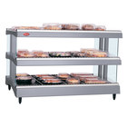Hatco GR3SDH-27D Gray Granite Glo-Ray  27 inch Horizontal Double Shelf Heated Glass Merchandising Warmer - 120V