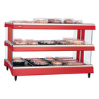Hatco GR3SDH-27D Warm Red Glo-Ray 27 inch Horizontal Double Shelf Heated Glass Merchandising Warmer - 120V