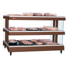 Hatco GR3SDH-27D Antique Copper Glo-Ray 27 inch Horizontal Double Shelf Heated Glass Merchandising Warmer - 120V
