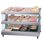 Hatco GR3SDS-33D Gray Granite Glo-Ray 33 inch Slanted Double Shelf Heated Glass Merchandising Warmer