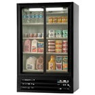 Beverage Air LV15-1-B Black Lumavue Refrigerated Sliding Glass Door Merchandiser - 15 Cu. Ft.