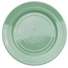 CAC TG-9-G Tango 9 7/8 inch Green Round Plate - 24 / Case
