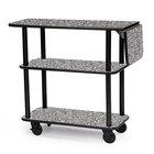 Geneva 36102 Rectangular 3 Shelf Laminate Tableside Service Cart with 10