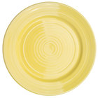 CAC TG-21-SFL Tango 12 inch Sunflower Round Plate - 12 / Case