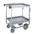 Lakeside 721 Heavy Duty Stainless Steel 2 Shelf Utility Cart - 19 3/8