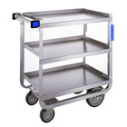 Lakeside 522 Heavy Duty NSF Stainless Steel 3 Shelf Utility Cart - 19 3/8 inch x 32 5/8 inch x 35 1/2 inch