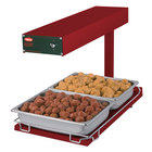 Hatco GRFFB Glo-Ray Red 12 3/4 inch x 24 inch Portable Food Warmer with Heated Base - 120V, 750W