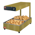 Hatco GRRFLI Glo-Ray Gleaming Gold 12 3/8 inch x 24 inch Portable Food Warmer with Infinite Controls and Overhead Light - 120V, 620W
