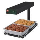 Hatco GRFFB Glo-Ray Black 12 3/8 inch x 24 inch Portable Food Warmer with Heated Base - 120V, 750W