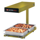 Hatco UGFFBL Ultra-Glo Gleaming Gold Portable Food Warmer with Base Heat and Lights - 120V, 1120W