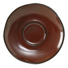Tuxton GAR-084 Artisan Red Rock 6 3/8 inch China Saucer - 24/Case