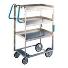 Lakeside 5915 Stainless Steel Three Shelf Ergo-One System Utility Cart - 35 3/8 inch x 18 5/8 inch x 46 3/4 inch