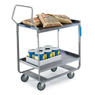 Lakeside 4558 Handler Series Stainless Steel Two Shelf Heavy Duty Utility Cart - 54 5/8 inch x 22 3/8 inch x 49 1/8 inch