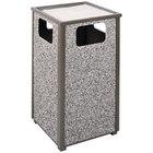 Rubbermaid R18SU Aspen Ash/Trash Architectural Bronze with Glacier Gray Stone Panels Square Steel Waste Receptacle with Rigid Plastic Liner 24 Gallons (FGR18SU6000PL)