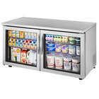 True TUC-60G-LP 60 inch Low Profile Undercounter Refrigerator with Glass Doors