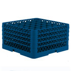 Vollrath TR7CCCC Traex Full-Size Royal Blue 36-Compartment 9 7/16 inch Glass Rack