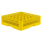 Vollrath TR7C Traex Full-Size Yellow 36-Compartment 4 13/16 inch Glass Rack
