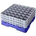 "Cambro 36S1214168 Blue Camrack 36 Compartment 12 5/8"" Glass Rack"