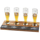Cal-Mil 2064 Crushed Bamboo Four Compartment Write-On Beer Sampler Tray
