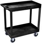 Luxor / H. Wilson EC11HD-B Black 2 Tub Cart Utility Cart - 18 inch x 35 1/4 inch x 35 1/4 inch