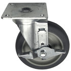 All Points 26-2427 5 inch Swivel Plate Caster with Brake - 300 lb. Capacity