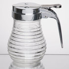 Tablecraft BH7 6 oz. Beehive Glass Syrup Dispenser with Chrome Plated ABS Top
