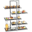 Cal-Mil 3304-96 One by One Silver Multi-Level Shelf Display - 28 1/2 inch x 13 1/2 inch x 36 1/2 inch