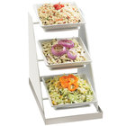 Cal-Mil 3022-55 Luxe 3 Bowl Stainless Steel Display - 10 inch x 16 1/4 inch x 17 inch