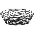 Tablecraft BK17410 Artisan Oval Black Wire Basket - 10