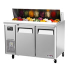 Turbo Air JST-48 48 inch J Series Refrigerated Salad / Sandwich Prep Table with Two Doors and Side Mount Compressor
