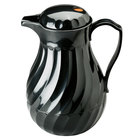 Vollrath 52174 SwirlServe 1.9 Liter Black Hot-N-Cold Beverage Server