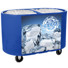 Blue Texas Tanker 1060 Portable Insulated Ice Bin / Beverage Cooler / Merchandiser with Two Compartments 256 Qt.