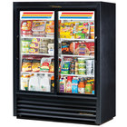 True GDM-41SL-60-HC-LD 47 inch Black Convenience Store Sliding Glass Door Merchandiser - 19 Cu. Ft.