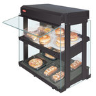 Hatco GRHW-1SGDS Gray Dual Slanted Shelf Heated Glass Mini-Merchandising Warmer - 1330W