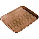 Carlisle 1222LWFG094 Customizable 12 inch x 21 inch Glasteel Wood Grain Redwood Dietary Fiberglass Tray 12 / Case