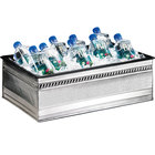 Cal-Mil 475-12-55 Stainless Steel Ice Housing with Clear Pan - 20 inch x 12 inch x 6 inch