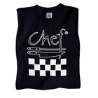 Chef Revival TS002-XXL Chef Logo Black T-Shirt - Cotton Size XXL