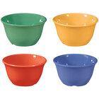 GET BC-70-MIX Diamond Mardi Gras 7 oz. Melamine Bouillon, Assorted Colors - 48 / Case