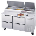 Beverage Air DPD67-4 67 inch Four Drawer Pizza Prep Table