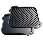 """Lodge LSRG3 10 1/2"""" Pre-Seasoned Cast Iron Reversible Grill / Griddle"""