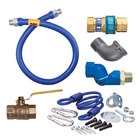 Dormont 16100KITS60 Deluxe SnapFast® 60 inch Gas Connector Kit with Swivel MAX®, Elbow, and Restraining Cable - 1 inch Diameter