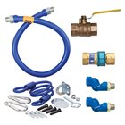 Dormont 16125KIT2S60 Deluxe SnapFast® 60 inch Gas Connector Kit with Two Swivels and Restraining Cable - 1 1/4 inch Diameter