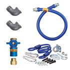 Dormont 16100KITCF60 Deluxe Safety Quik® 60 inch Gas Connector Kit with Two Elbows and Restraining Cable - 1 inch Diameter