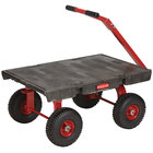 "Rubbermaid 4475 5th Wheel Wagon Platform Truck - 36"" x 24"" (FG447500BLA)"