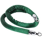 Aarco Green 6' Rope with Chrome Ends for Crowd Control / Guidance Stanchions