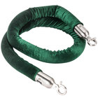 Aarco Green 5' Rope with Satin Ends for Crowd Control / Guidance Stanchions