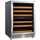 Eurodib MH54DZ Single Section Half Height Dual Temperature Glass Door Wine Refrigerator - 6 Shelves