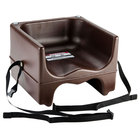 Cambro 200BCS131 Dual Seat Booster Chair with Strap - Brown