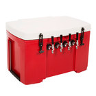 Red 4 Faucet Grizzly Jockey Box with (4) 120' Coils - 30